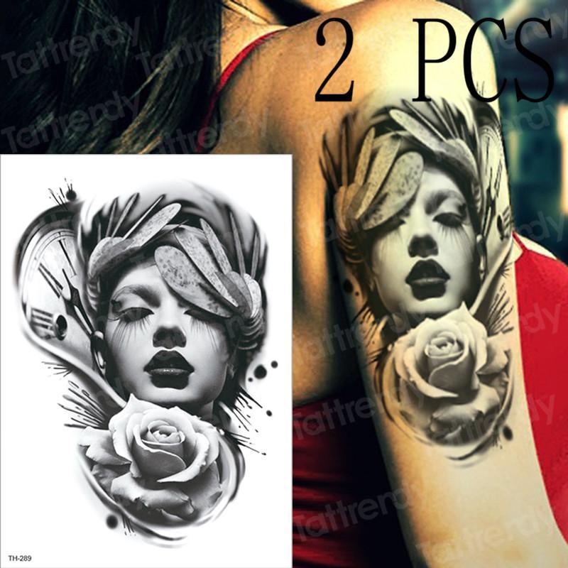 Großhandel 2 Stücke Temporäre Tattoo Aufkleber Frauen Mechanische