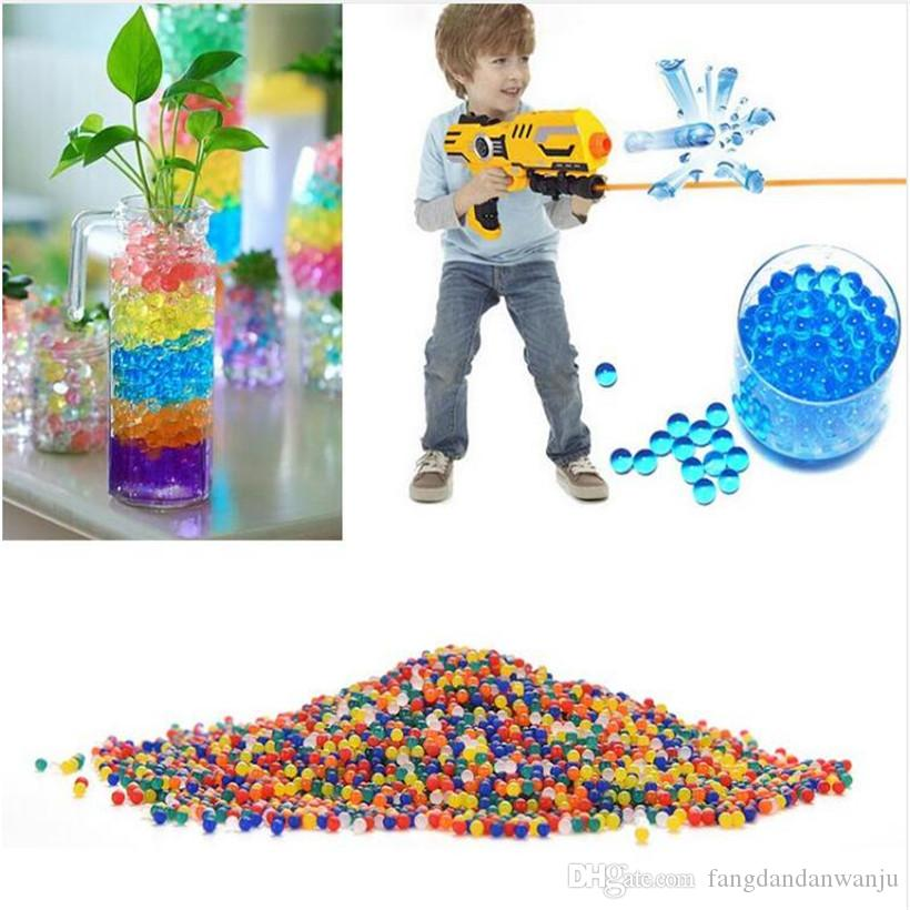 Colorful jelly crystal pearl sea mud foam water absorbent children's toy magic ball water gun soft bullets 1 bag 50 grams (about 3000)