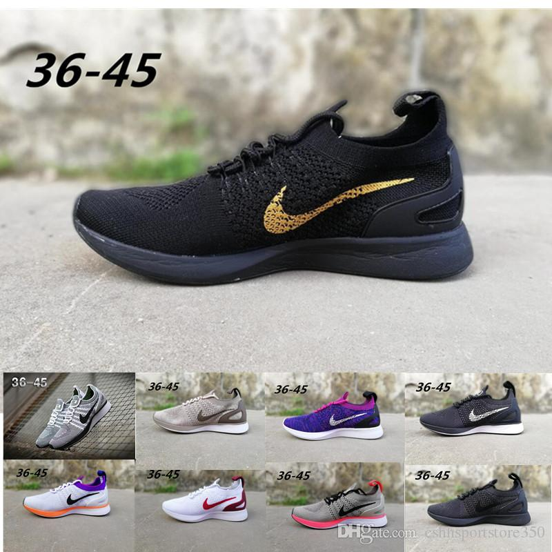 best service aa971 5aff1 2019 Newest Air Zoom Mariah Fly Racer 2 Women Men Athletic casual Shoes  Black AIR Zoom Racer Sneaker Training Lightweight Shoes