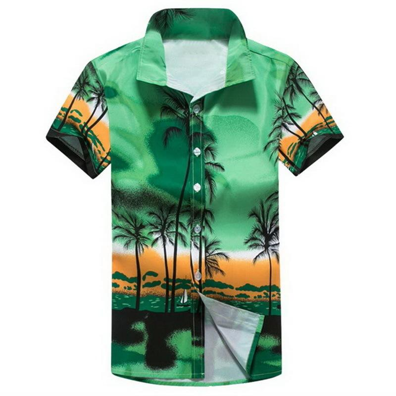 b23035898309c3 Men Hawaii Shirt New Summer Beach Leisure Fashion Floral Print Tropical  Seaside Hawaiian Shirts 2019 Casual Camisa Shirt Online with $38.38/Piece  on ...
