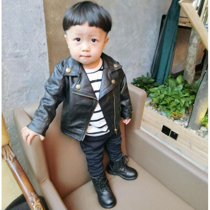 2cd00127ef0c1e Fashion Baby Boy Leather Jackets PU Short Coat For Boys Outerwear Cloth Infant  Baby Jacket High Quality Spring Newborn Coats NEW Jackets For Kids Boys ...