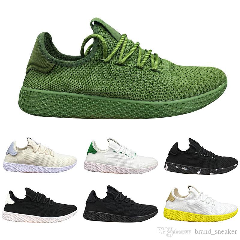 8a84598e1 Tennis Hu Mens Running Shoes Pharrell Williams X Stan Smith Army Green Women  Runner Sports Black Red White Trainers Luxury Designer Sneakers Tennis Hu  Nmd ...