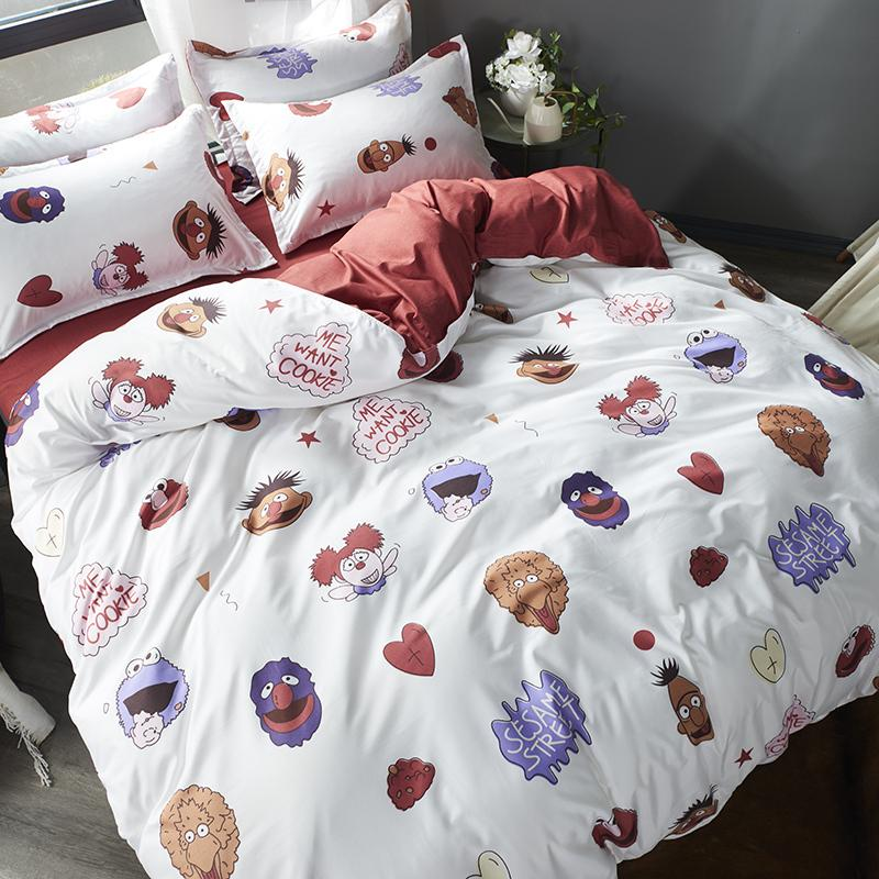Four-Piece Bedding Set Bed Sheet Quilt Cover Single Student Dormitory Three-Piece Set
