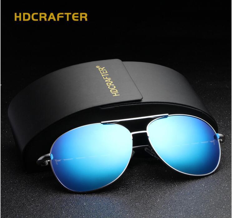 12be36ce2ca HDCRAFTER Brand Latest Design Polarized Color Film Sunglasses Alloy Frame  Outdoor Anti Glare Pilot Driving Fishing UV400 Coated Sun Glasses Sun  Glasses ...