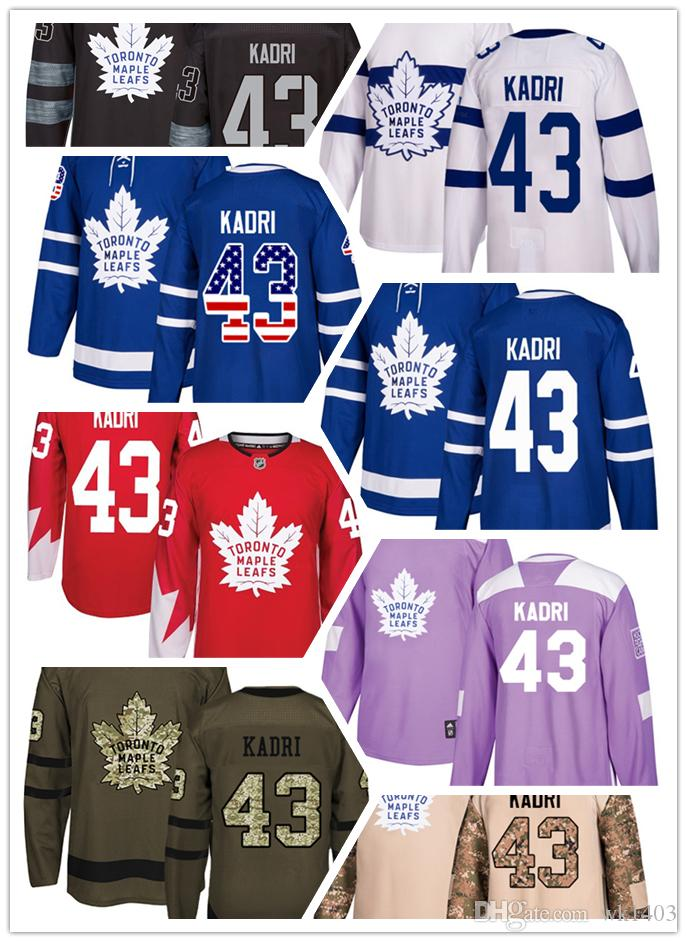 differently c1a3c 0ff63 Toronto Maple Leafs jerseys #43 Nazem Kadri jersey ice hockey men women  blue white red Authentic winter classic Stiched gears Jersey