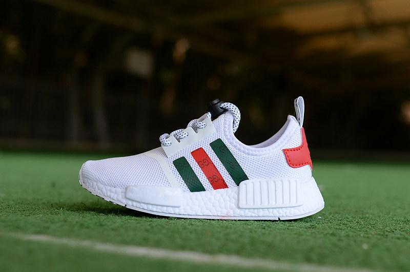 sale retailer bce51 3ad81 Children s boys girls NMD R1 Kids toddler Shoes White Red Pink Crystal  white sequins trainers city sock sneakers Running Shoes size 28-35