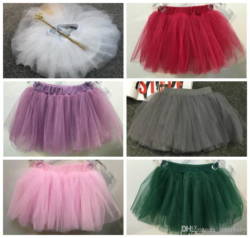 993bf60a1 Ropa de bebé niña Niños Tutu Mini vestido de baile de tul Pettiskirt Ballet  Bubble Faldas Traje vestido de bola Princesa Vestido de fiesta ropa de ...