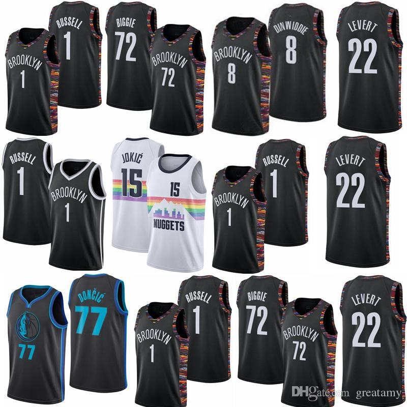 91f14f2f9afa 2019 New Caris 22 LeVert Spencer 8 Dinwiddie 1 D Angelo Russell 72 Biggie  City Version 100% Stitched Jerseys From Greatamy
