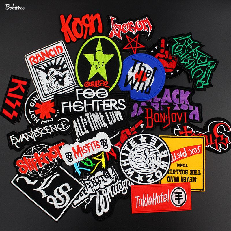 2018 New Popular Music Metal Rock Band Badges Embroidered Sewing Patches for Clothes iron on Stickers for Jeans jacket
