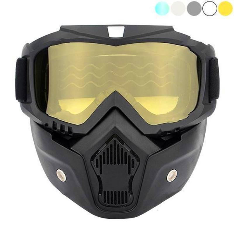 Cycling Bicycle Accessories Motorcycle Detachable Mask Anti-uv Goggles Off Road Helmet Ski Sport Racing Motocross Goggles Glasses
