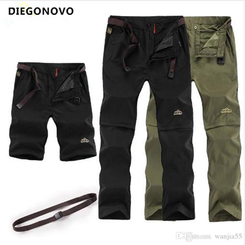 e13aa73aadd 2019 Outdoor Wear Hiking Pants Men Summer Removable Quick Dry Trousers  Camping Trekking Waterproof Pants Men s Sports Shorts Army Camping Hiking Pants  Pants ...