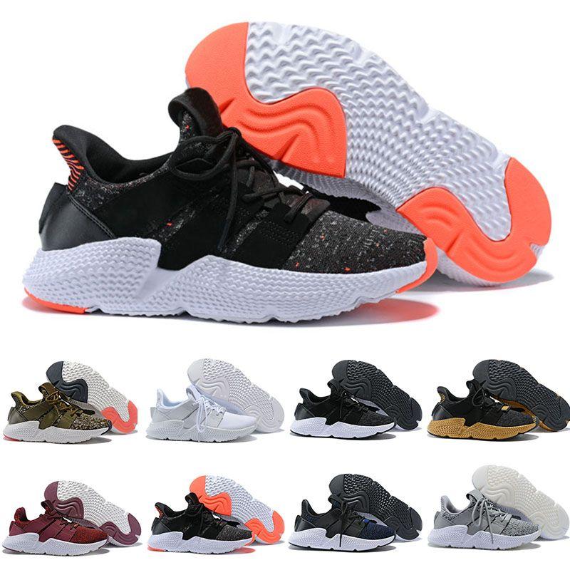new styles dc1dd 03e26 Acquista 2018 Adidas Originals Prophere EQT Alta Qualità PropQ EQT 4 4S  Scarpe Da Corsa Supporto CQ3023 Triple Nero Bianco Blu Trace Olive Sneaker  Scarpe ...