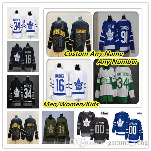 80b4433aa 2019 Cheap 2019 Toronto Maple Leafs Hockey Jerseys Auston Matthews John  Tavares Mitchell Marner William Nylander Andersen Marleau Rielly Black From  ...