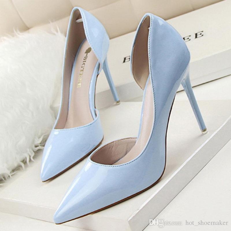 0add1a9b1b174 Compre Bombas Para Mujer Zapatos De Tacón Alto Para Mujer Zapatos De Tacón  Alto Extremo Zapatos De Boda Para Mujer Nupcial Bigtree   9634 A  25.11 Del  ...