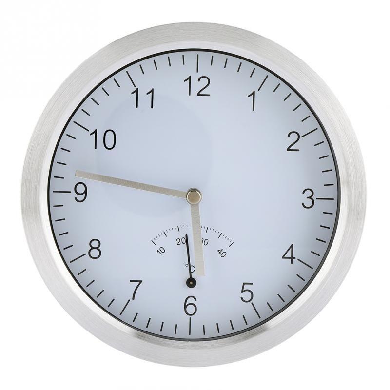 Horloge électrique avec affichage de la température Ventouse montée Horloge  électrique Cuisine familiale Salle de douche Salle de bain