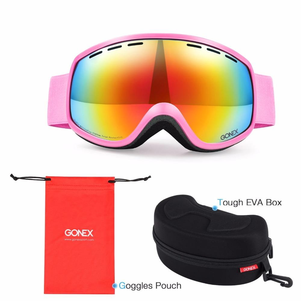 c691e66d74e 2019 Gonex 3 8 Kids Ski Goggles Snowboard Skiing Eyewear Glasses UV400  Protection Double Spherical Lens For Winter Sports+Goggle Case From  Yiyunwat