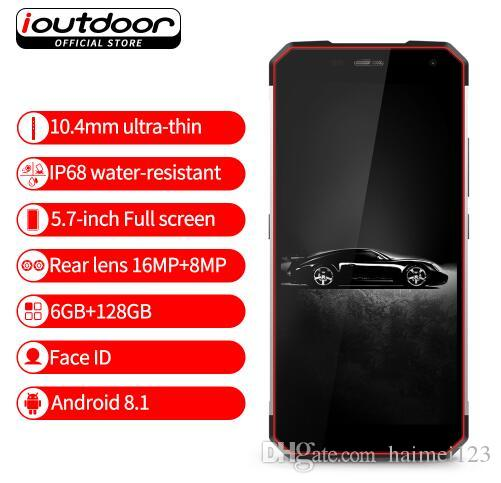 buy popular 2ae0b 548d4 ioutdoor X IP68 NFC Rugged Smartphone 5.7 Inch Android 8.1 6GB 128GB Dual  Rear Cameras Waterproof Shockproof Mobile Phone