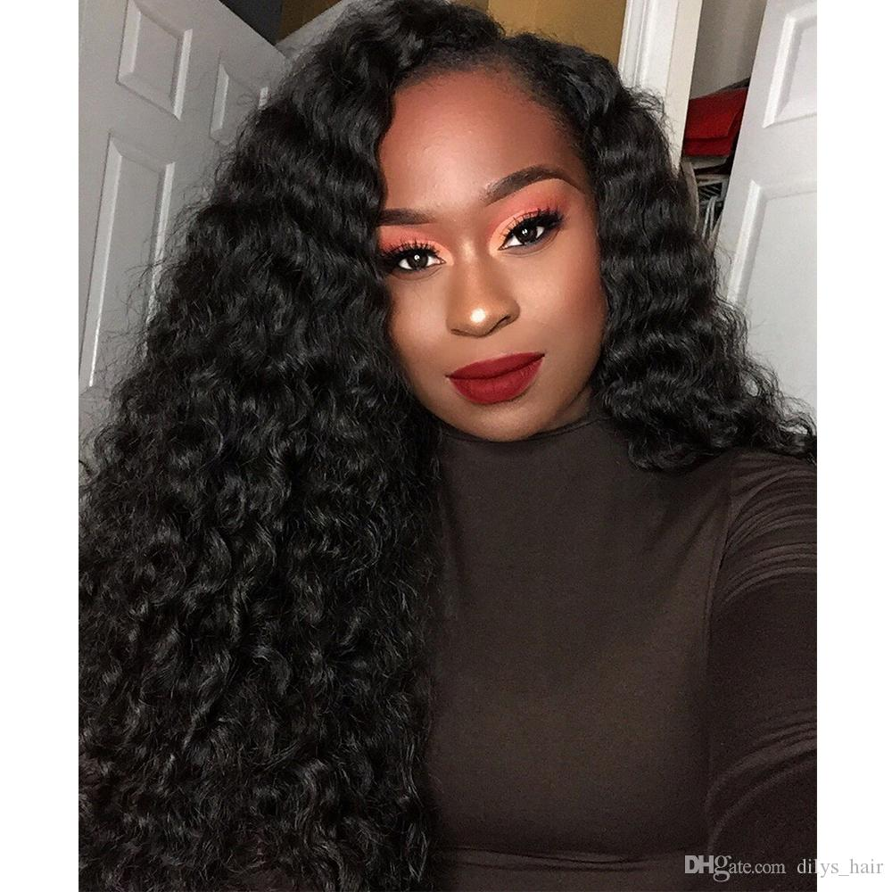 Kinky Curly Human Hair Weave 3 Bundles or 4 Bundles Peruvian Indian Malaysian 100% Virgin Human Hair Natural Color 8-28 inches
