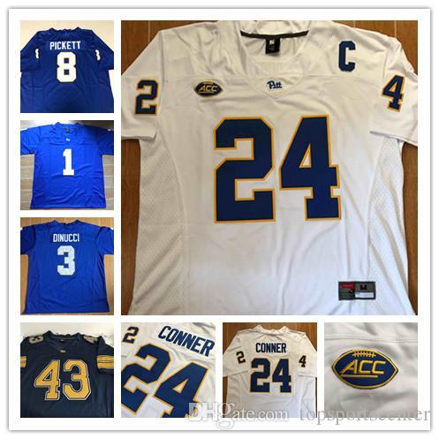 huge sale 6b2d1 13dc7 Pittsburgh Panthers Pitt #13 Dan Marino 23 Tyler Boyd 7 Tom Savage 97 Aaron  Donald Conner Paris Ford 10 Quadree Henderson Football Jerseys