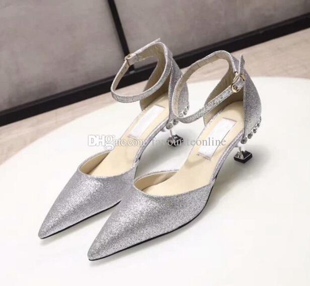 New Arrival JC Womens High Heel Pumps Club Rhinestone 8.5CM And 5.5CM Party London Wedding Brilliant Dress Sandals Shoes SZ35-40