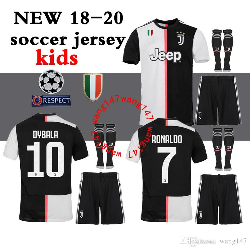 b5a5c3c58 18 19 20 kids kits+sock home Soccer jersey 2018 2019 2020 juve Ronaldo  DYBALA HIGUAIN Away third 3RD Football shirt D. Costa Pjanic BOY