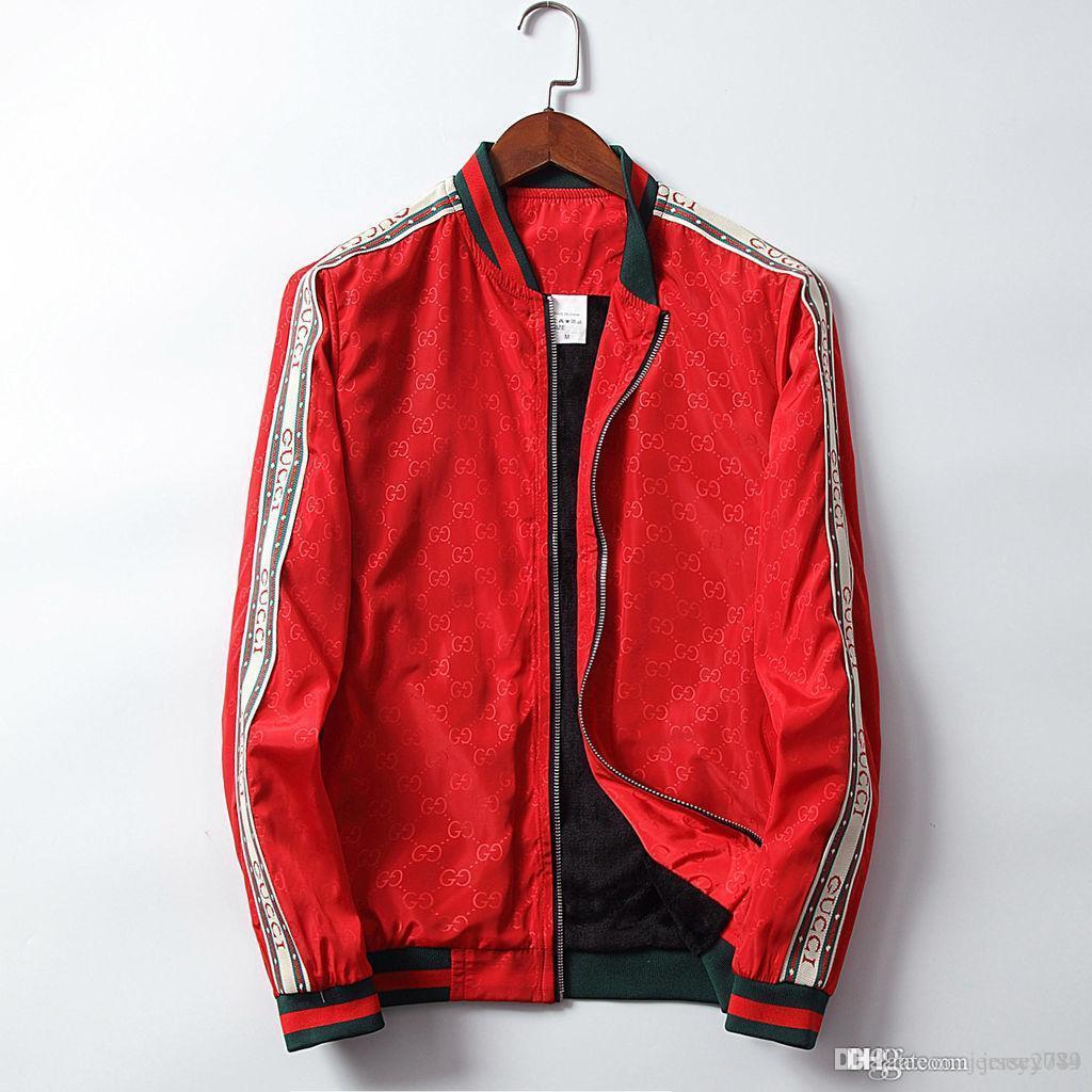 Luxus Herren Jacken Gedruckt Rot Neue Lässig Reißverschluss Aa Oberbekleidung Größe Schwarz Mode Markendesigner Mäntel Plus Sportbekleidung Frühling WEIeHD29Yb