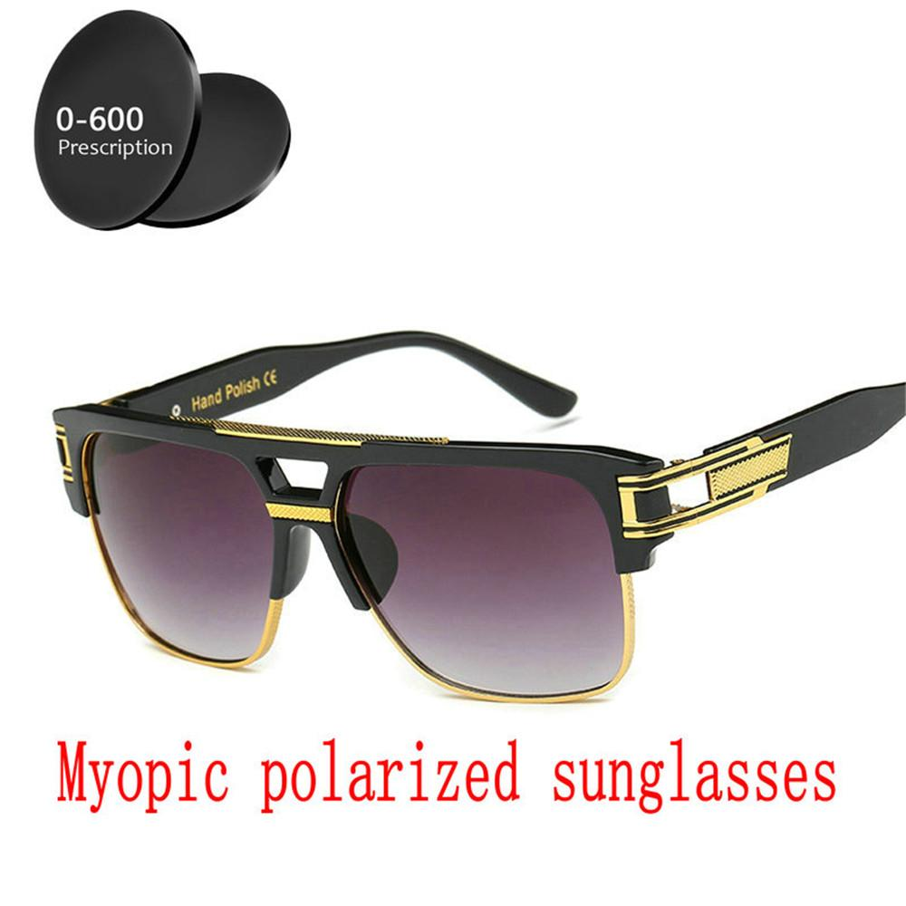 254c3ae24b4 2019 Finished Polarized Myopia Sunglasses Men Women Custom Sighted Optics Driving  Goggles Men Fashion Square Sunglasses FML Cheap Prescription Sunglasses ...