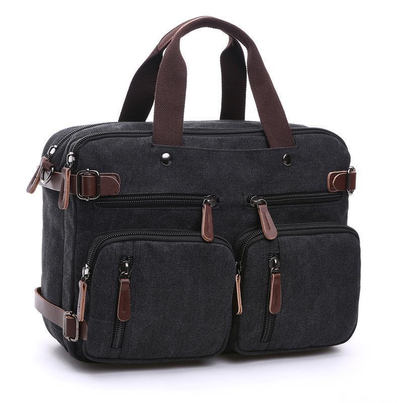 a8d21594a4e Vintage Men Handbag Bag Casual Travel Shoulder Messenger Bags Mens Canvas  Crossbody Business Classical Design Bolsa Masculina Ivanka Trump Handbags  Western ...