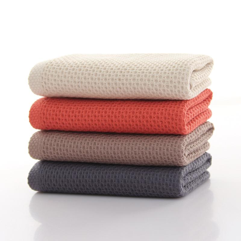 Gaoyang wash towel cotton adult home honeycomb waffle Japanese towel factory direct business gift