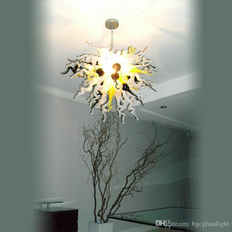 Ceiling Bedroom Or Living Room Or Hotel Crystal Chandeliers For Sale Simple Design 100% Hand Blown Glass Cheap Light