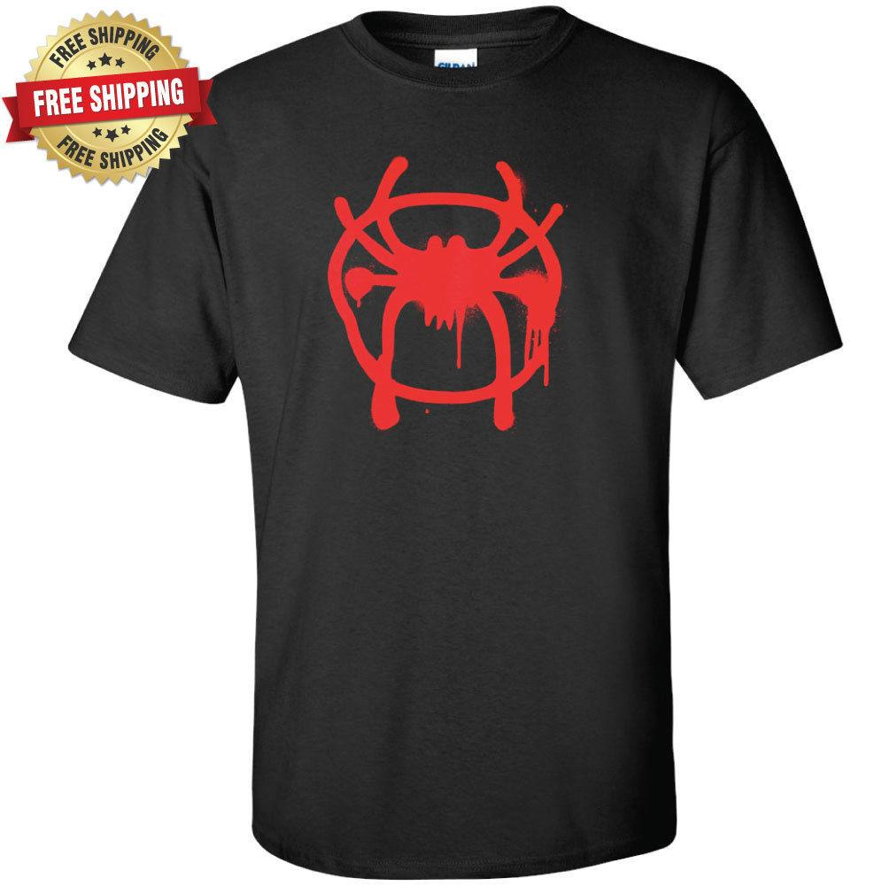 Spiderman Camiseta Miles Morales Spray Paint Logo Marvel Spider ManFunny envío gratis Unisex Casual camiseta