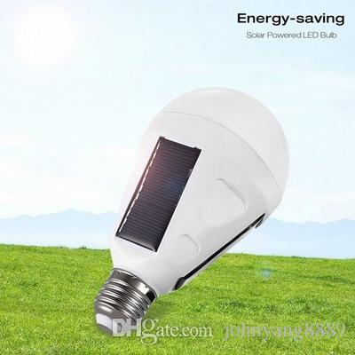 New White Solar Panel Light Bulb LED Powered Light Portable Waterproof  Emergency Light Bulb 7W 12W 1200mAH