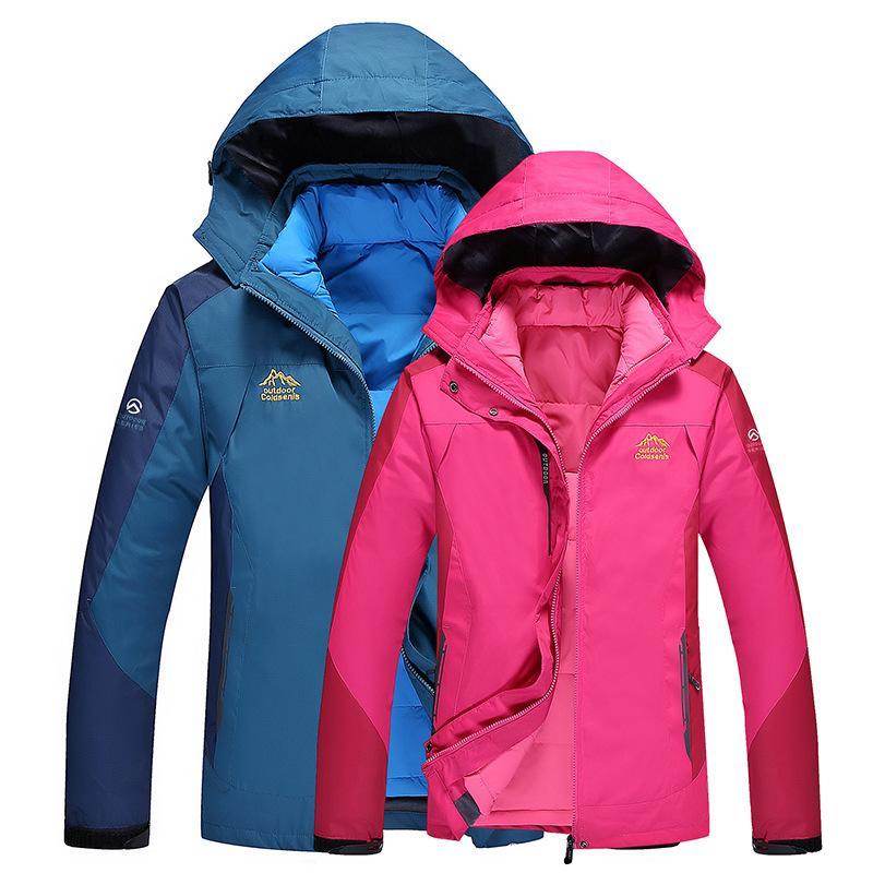 74bfdd2a73624 Plus Size Women Ski Jacket Women Mountain Thicken Plus Fleece Ski Wear  Waterproof Hiking Outdoor Snowboard Jacket Snow UK 2019 From Towork