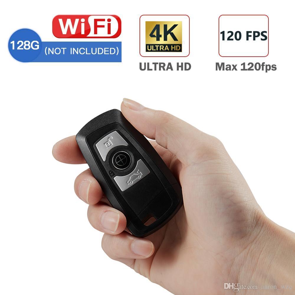 4K Super Vision Full HD Key Fob WIFI Mini Camera Car Keychain Video Recorder