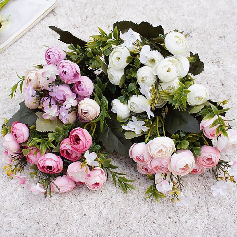 10 Stücke Seide Künstliche Pfirsichblüte Blumenkopf DIY Brautstrauß