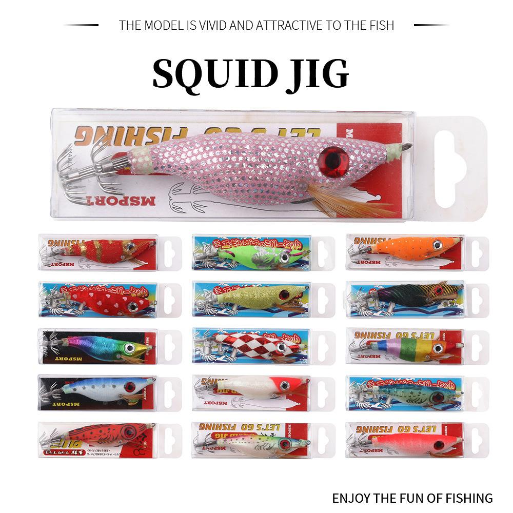 New Luminous Squid Jig lures hook 10cm 10g octopus Crankbaits Prawn fishing lure shrimp hard Baits