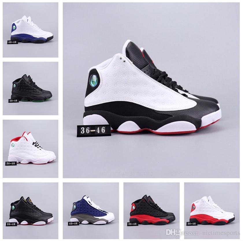 size 40 d5596 5f77b Acheter 2019 Nouveautés Chaussures De Basket 13 13s Phantom Chicago Gs Gg  Rétro Crazy Hommes De Luxe Designer Femmes Enfants Sports Sneakers  Formateurs 36 ...