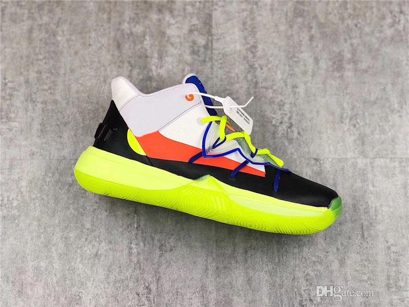 huge selection of 8a2fb cf4b7 2019 2019 Authentic ROKIT X Kyrie 5 All Star Multi Color Basketball Shoes  Men CJ7853 900 Yellow Black Orange Blue Sneakers Sports With Box From Mics,  ...