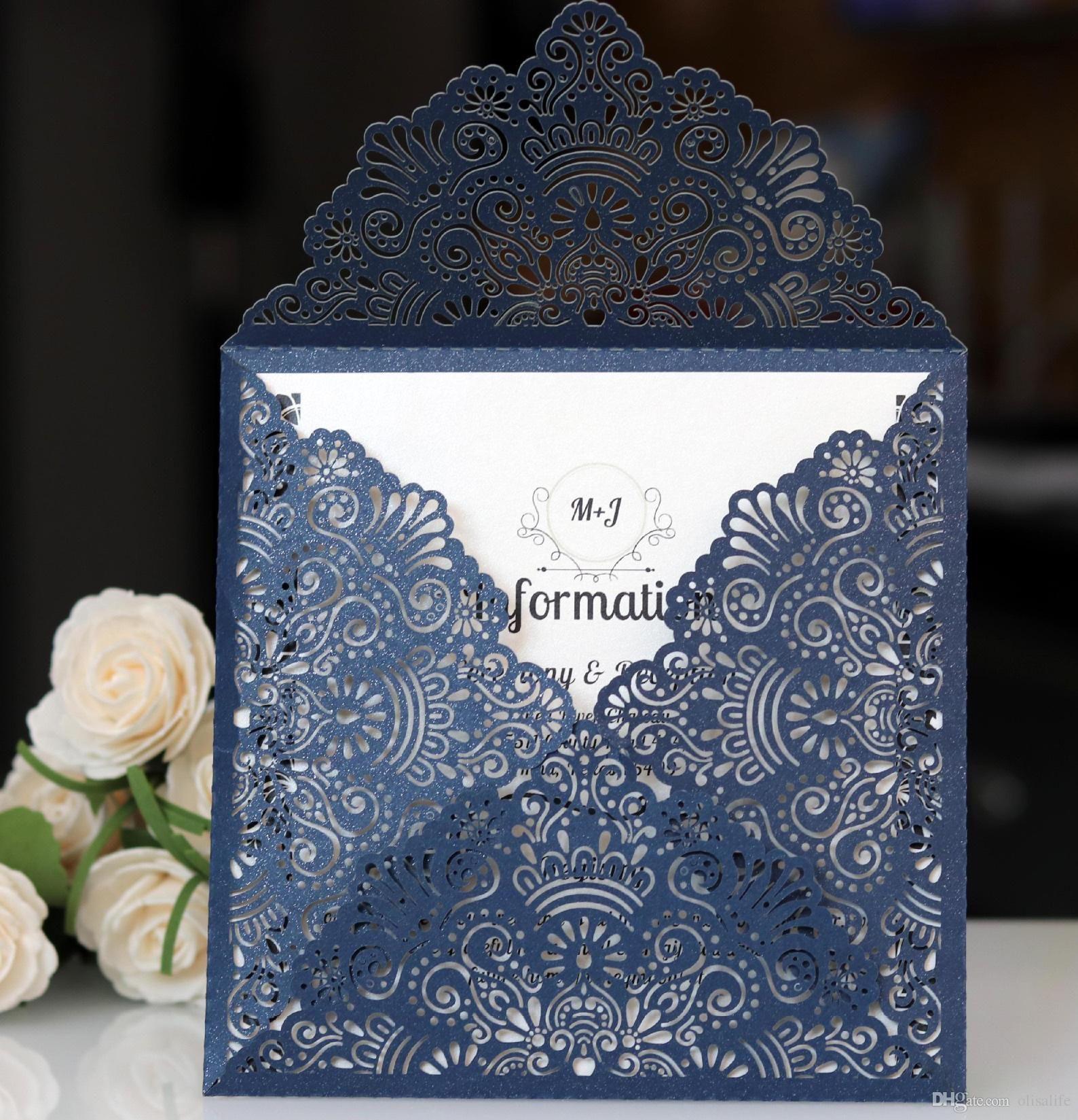 Western 2018 Laser Hollow Personal Free Printed Invitation Invites Custom With Envelope Wedding Accessory Blank Inner Butterfly: Blank Wedding Invitation Invitation At Websimilar.org
