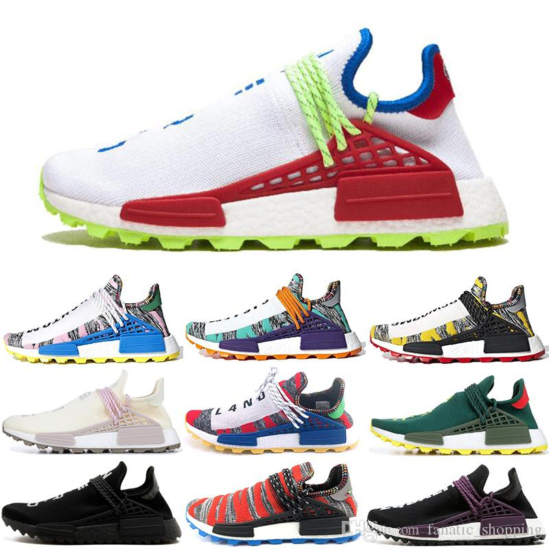 ca38e12fdc5e6 Cheap Human Race Pharrell Williams Running Shoes Creme Nerd Solar Pack Afro  Hu Equality Mens Women Trainer Sports Sneakers Size 36 45 Mens Sale Cheap  ...
