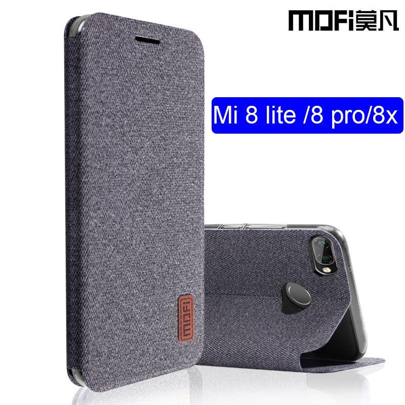 quality design 8def4 d9184 wholesale mi 8 lite case flip cover silicone fabric xiaomi mi8 lite mi 8x  case capas kickstand MOFi original xiaomi mi 8 pro case