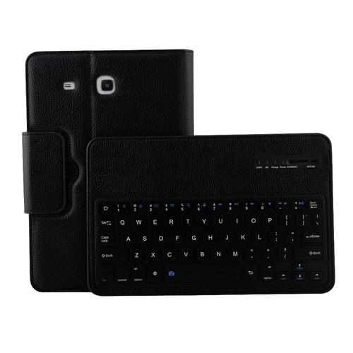 For Samsung Galaxy Tab E 9 6 / T560 2 in 1 Detachable Wireless Keyboard  Litchi Texture Leather Case with Holder