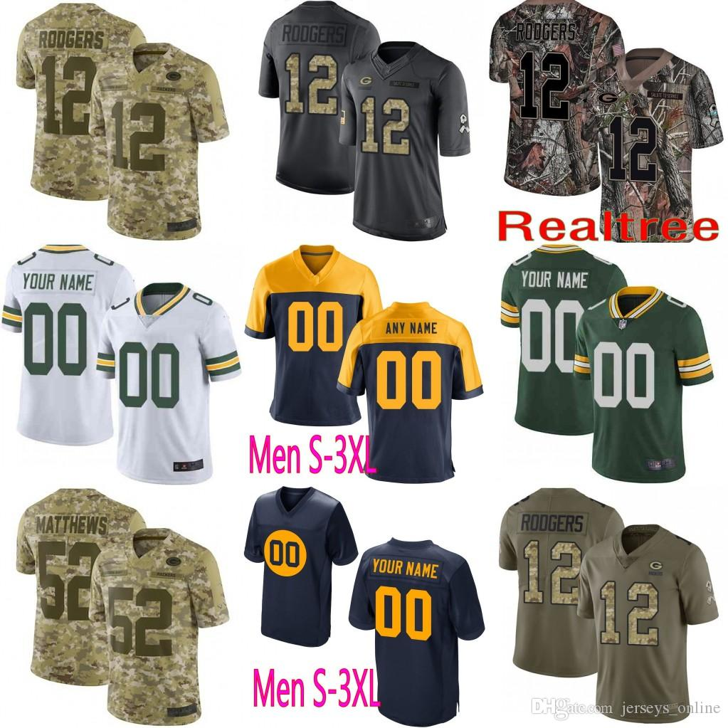 free shipping f3edf 2e3a6 Custom Green Bays 17 Davante Adams Jersey Packers 15 Bart Starr 4 Brett  Favre 99 James Looney 76 Mike Daniels 33 Aaron Jones
