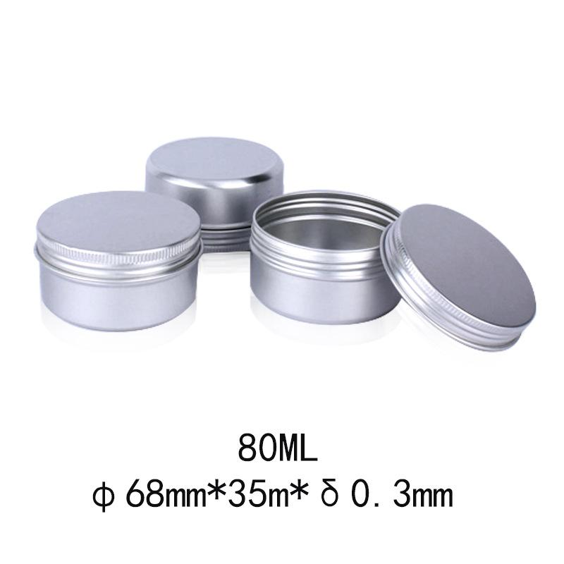 60pcs 80Ml Tins Containers Tea Aluminum Box Round Metal Lip Balm Balm Storage Box Jar Containers With Screw Cap For Lip