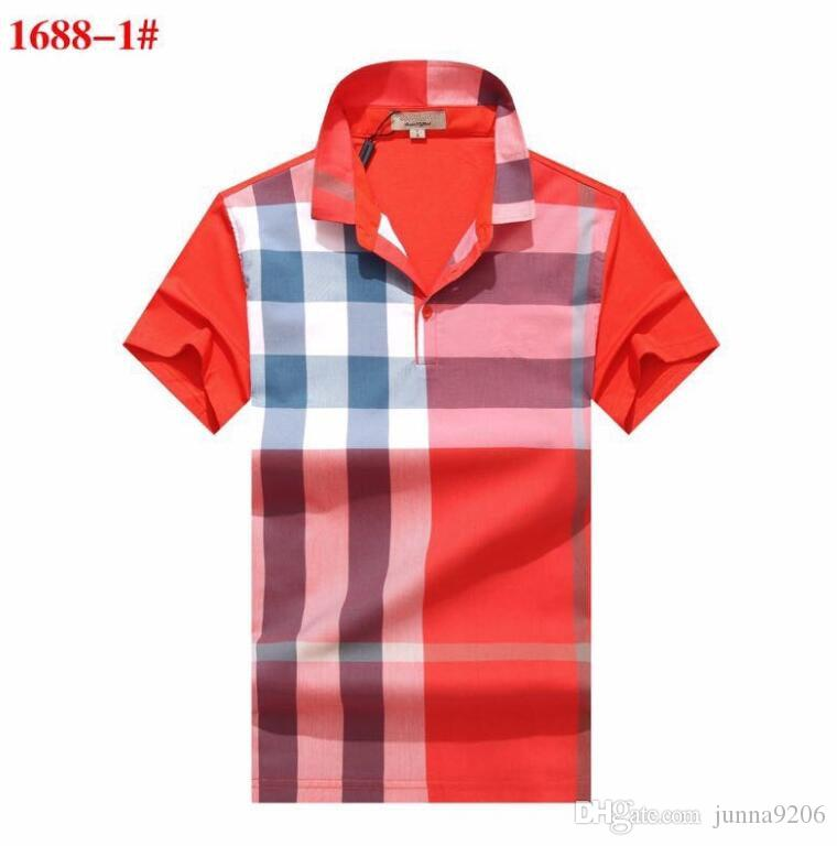 36879027e NEWEST 19ss Grid Polos Shirt Brand T Shirts Men Casual Polos with ...