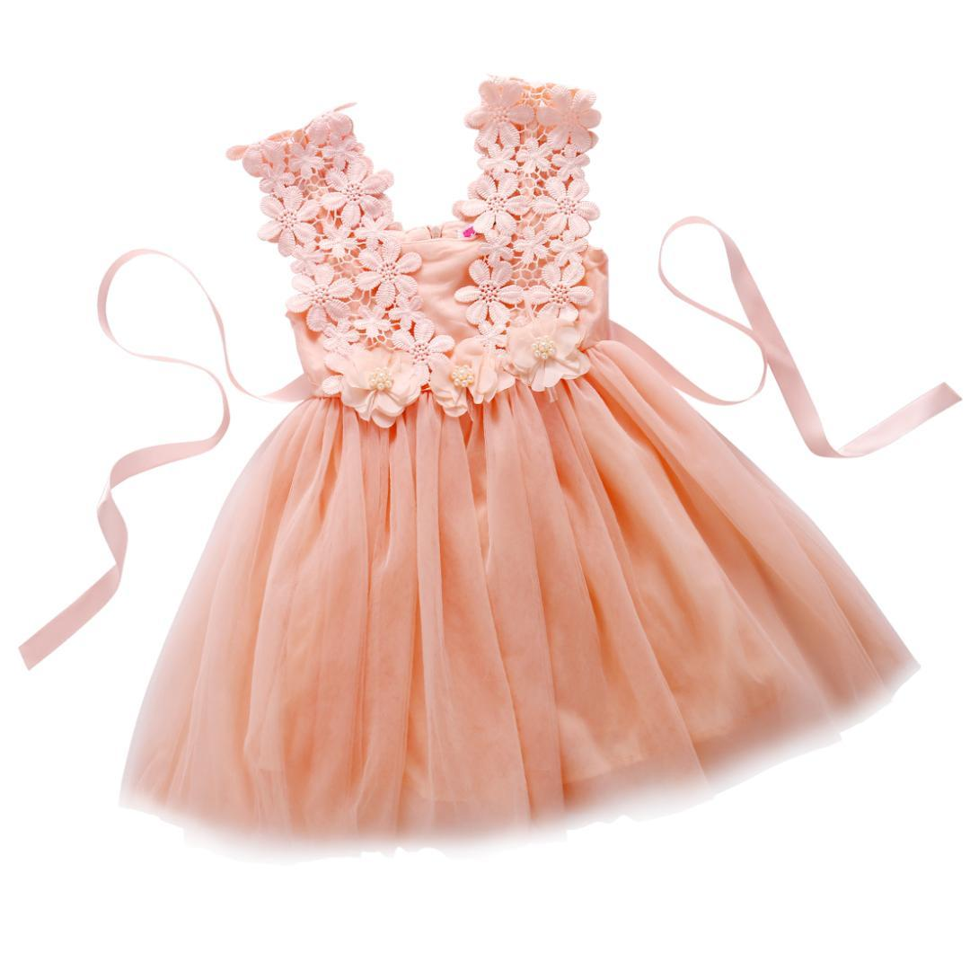 5ab98b514 2019 Elegant Feast Baby Girls Dress Princess Lace Flower Tulle Tutu Gown  Formal Party Dresses From Humom, $38.92 | DHgate.Com