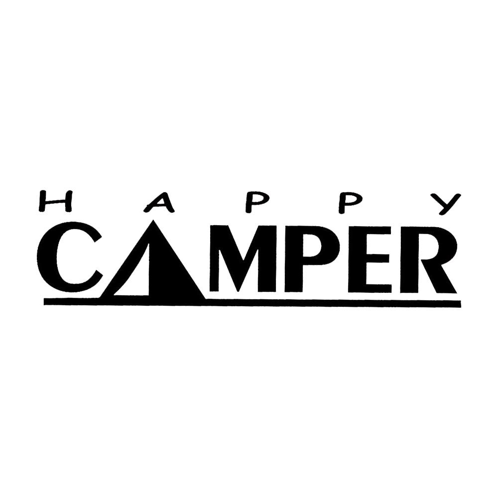 2019 5 720cm camping decal happy camper decal trailer tent funny car window bumper novelty jdm drift vinyl decal sticker from xymy767 3 92 dhgate com