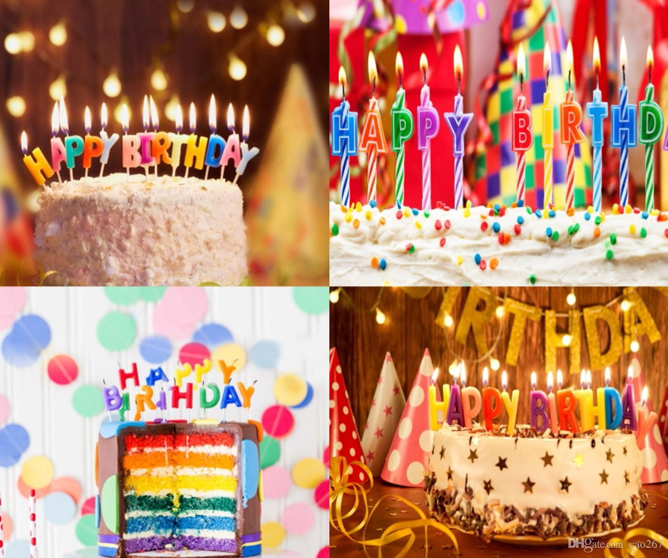 2019 Birthday Style Photography Backdrop For Children Studio New Background With Colorful Cake Candles Gifts From Cao267