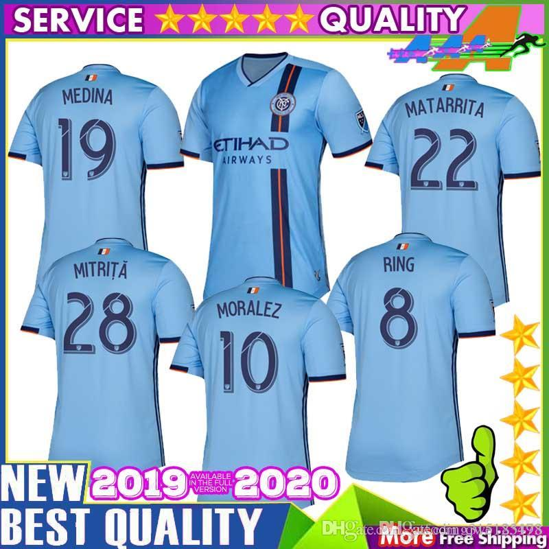 Nycfc Schedule 2020 2019 2019 2020 Nycfc Thailand Quality New York City Soccer Jersey