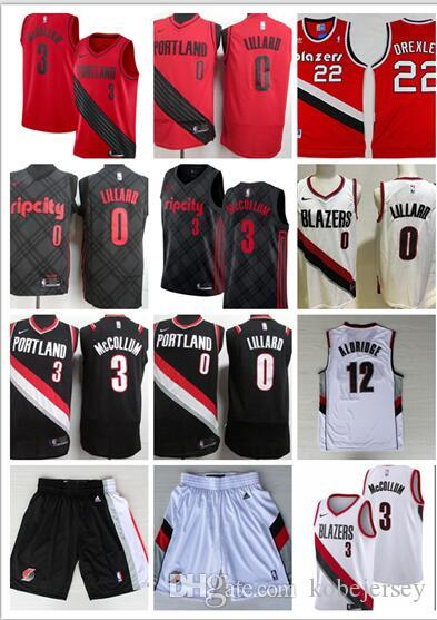 6c741fe20 2019 2018 Men  0 Lillard City Jerseys Embroidery Splice Cheap 3  McCollum  All Stitched Rip City Basketball Jersey Suture From Sellercb